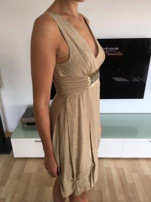BCBG Evening Dress gold-colored rayon