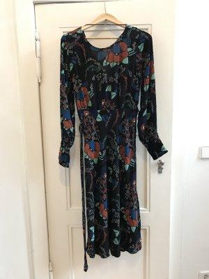 Elegantes BA&SH Kleid Abelia schwarz Blumen-Print Gr. 36 / S