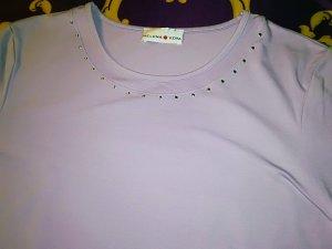 Elegantes Basic-Shirt von Helena Vera, lavendelfarben, Gr. 46, neu!