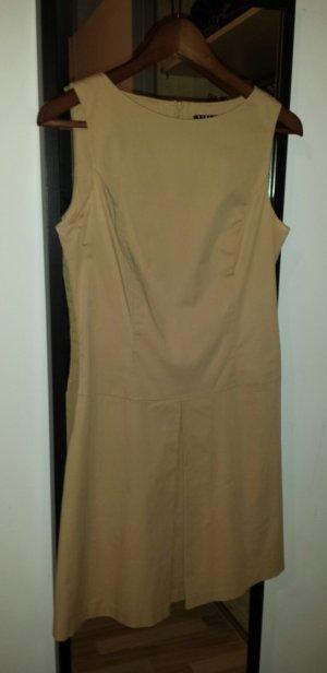 elegantes beiges Kleid, knielang
