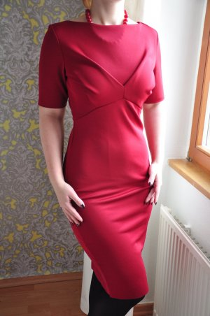 Elegantes Bleistiftkleid Dunkelrot im Mad Men Look