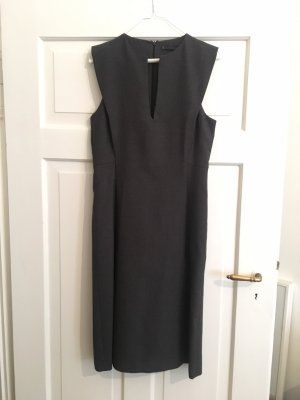 Zara Woman Vestido ceñido de tubo gris antracita