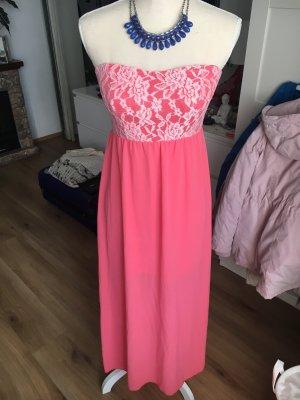 Vestido bustier salmón-rosa