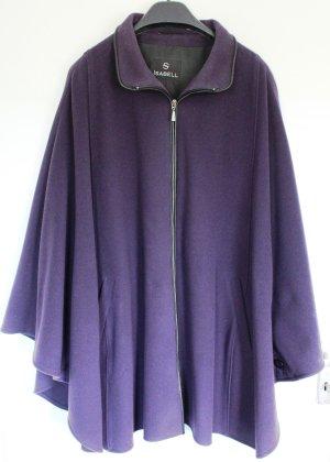 Abrigo de lana violeta oscuro lana de esquila
