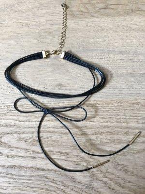 Elegantes Choker-Halsband schwarz/gold