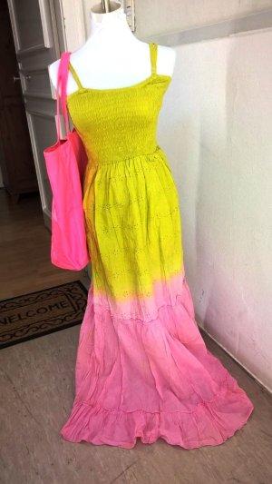 Elegantes Damen Sommer Kleid Mint Rosa Gr. 38