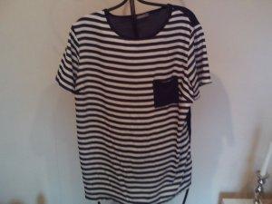 Yessica T-shirt rayé bleu foncé-blanc