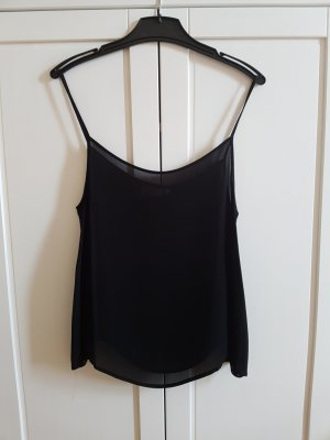 Spaghetti Strap Top black viscose