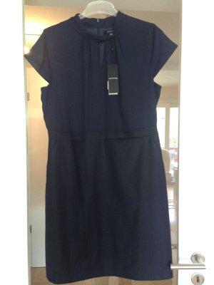 Comma Sheath Dress dark blue mixture fibre
