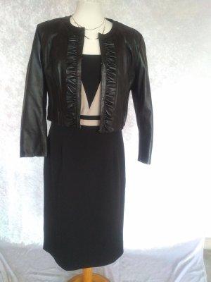 Bodyright Sheath Dress black-beige mixture fibre