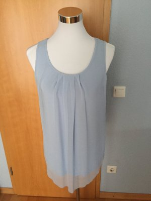 elegantes hellblaues Blusen Top, Größe 36/38