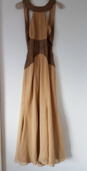 elegantes Hochwertiges Apart Abendkleid GOLD GR.42 Cleopatra Kleid
