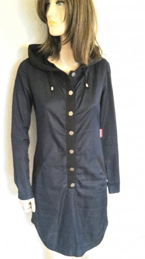 Hooded Dress black-dark blue