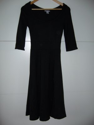 Elegantes Jerseykleid schwarz dickere Qualität ausgestellt H&M XS 34