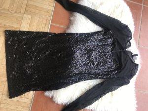H&M Vestido de lentejuelas negro