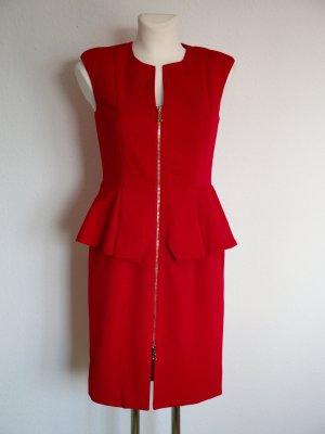 elegantes Kleid Cocktailkleid von Apart rot mit Schößchen Gr. 34 wie neu