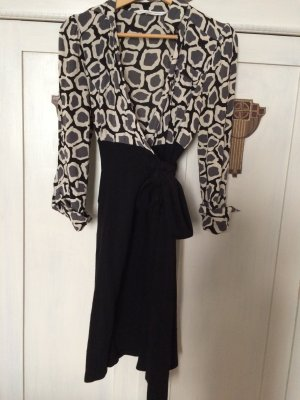 Diane von Furstenberg Robe portefeuille multicolore laine