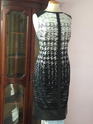 Elegantes Kleid in schwarz/weiß, Gr. 42