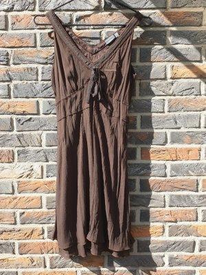 Mexx Chiffon jurk donkerbruin