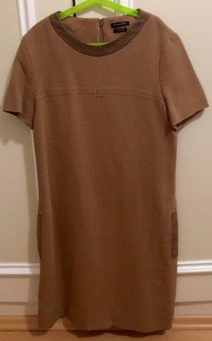 Elegantes Kleid mit echten Lederdetails Gr. 34
