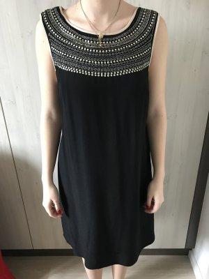 Sisley Vestido de lentejuelas negro-beige claro