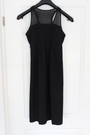 Elegantes Kleid Schuhmacher Seidenbesatz Seide Schwarz S