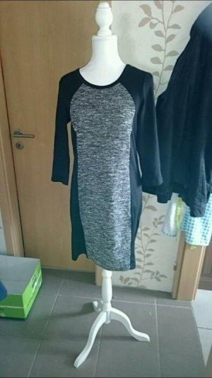 Elegantes Kleid schwarz grau