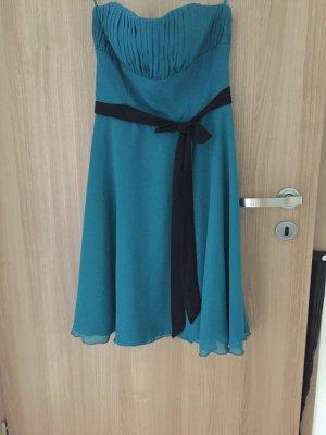 Elegantes Kleid sehr schön in der Farbe petrol,