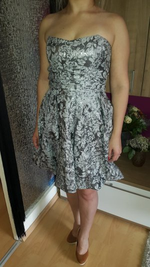 Balloon Dress grey-silver-colored