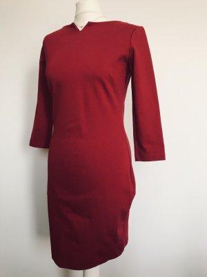 Ana Alcazar Pencil Dress dark red
