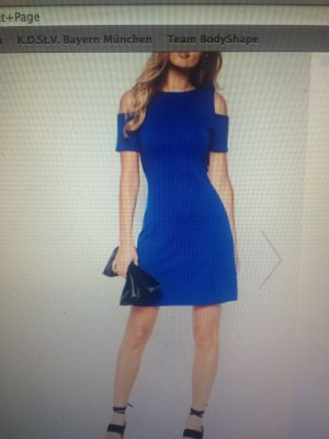 Whistles Stretch Dress blue-steel blue