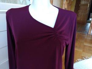 Boothalsshirt braambesrood-bruin-paars