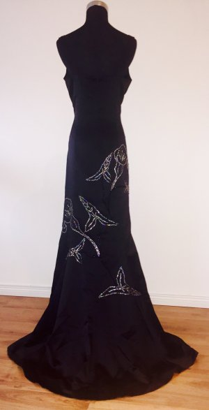 Elegantes, langes Abendkleid/ Ballkleid im Mermaidstil bestickt mit Pailletten