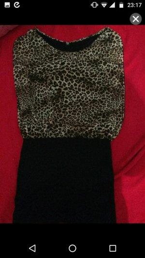 elegantes leoparden kleid