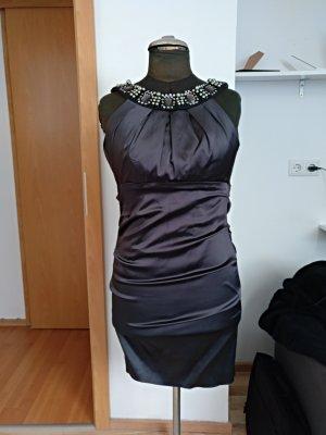 Mariposa Vestido de tubo negro acetato