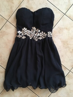 AX Paris Off the shoulder jurk zilver-donkerblauw