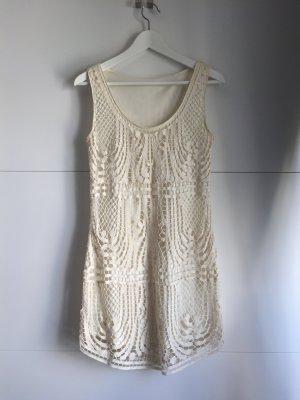 Elegantes Minikleid in Creme-Tönen