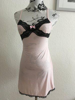 Elegantes Nachthemd rosa/schwarz