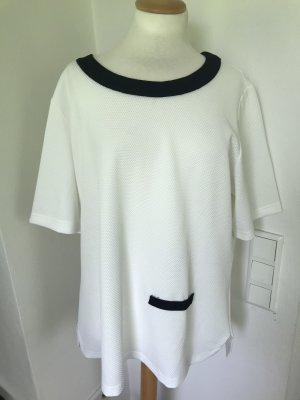 Sara Lindholm T-shirt wit-zwart