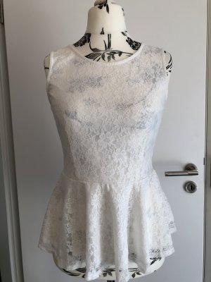 Vero Moda Flounce Top white