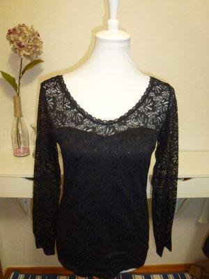 Elegantes Oberteil mit schwarzer Spitze von H&M