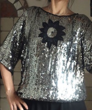 Splendor Blouse silver-colored-black polyester