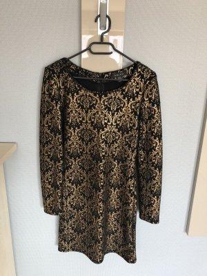 Amisu Mini-jurk zwart-zandig bruin