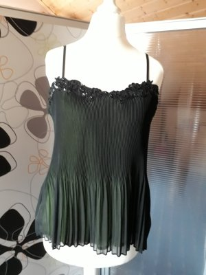 Comma Spaghetti Strap Top black-pale green
