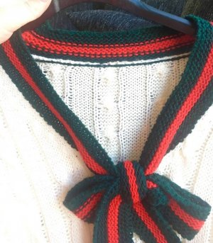 Robe pull multicolore laine angora