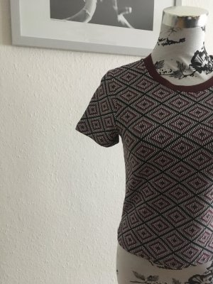 Elegantes Retro Crop Shirt Neu!