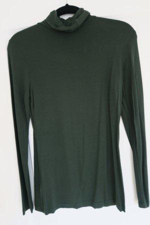 Elegantes Rollkragenshirt in dunkelgrün H&M Gr. 36