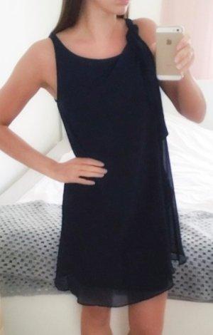 Elegantes schickes Kleid marineblau Dunkelblau Naf Naf XS 34