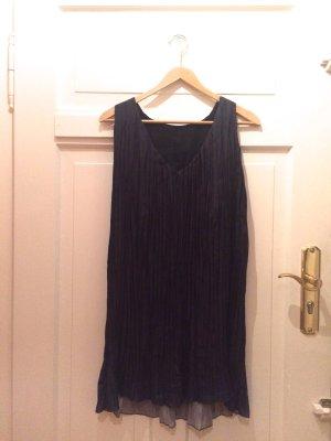 Zara Off the shoulder jurk donkerblauw Synthetische vezel