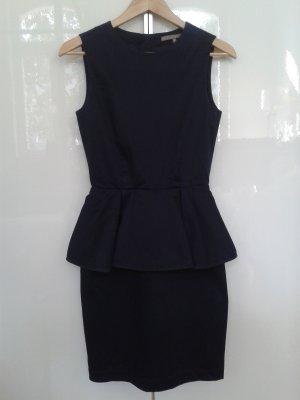 Mint&berry Peplum Dress dark blue cotton
